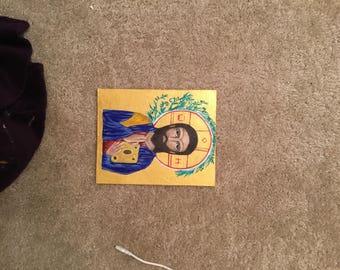 Byzantine art piece of Jesus Christ