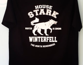 House Stark Game of Thrones T Shirt / Winterfell / The North Remembers / GOT  T Shirt / GOT