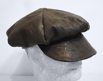 Unisex gavroche hat in GENUINE OSTRICH - Cappello unisex modello gavroche in vero struzzo