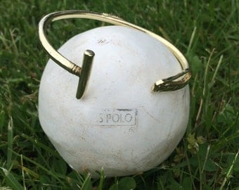 Polo Mallet Bangle, available in Silver and Brass