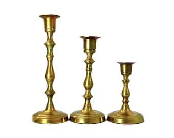 Vintage Brass Candlestick Holders, Brass Candleholders, Tiered Candlesticks, Candle Holder,Candlestick Holder,Vintage,Boho Decor,Brass Decor