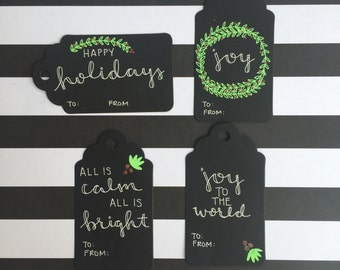 Holiday Gift Tag 4-Pack (Black)