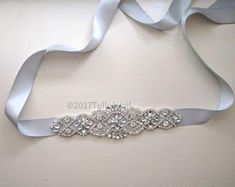 Bridal wedding rhinestone sash / belt - Sonia