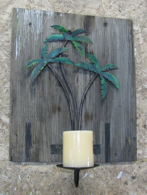 Rustic Country Western Wall Mount Candle Holder