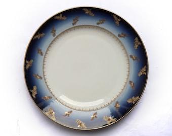 "Stunning Large Antique Fischer & Mieg Porcelain Charger 1873-1918 32cm 12 5/8"""