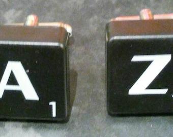 Scrabble Tile Cufflinks - Black