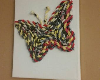 Fabric Twine Butterfly Silhouette
