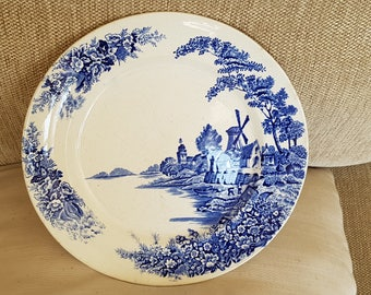 Possibly old Delft Plate- Windmill