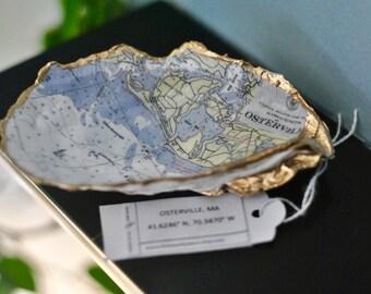 Osterville || Cape Cod || Massachusetts || Nautical Chart || Hanging Oyster Art