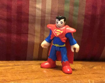 Rare Imaginext DC Super Friends SUPERMAN figure in Krypton costume from Zod set Action Figure