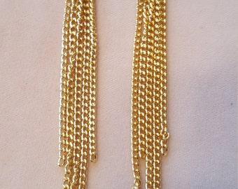 Rachel Zoe inspired Fringe Chain earrings