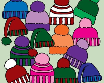 Winter Hats Clip Art 37 Images