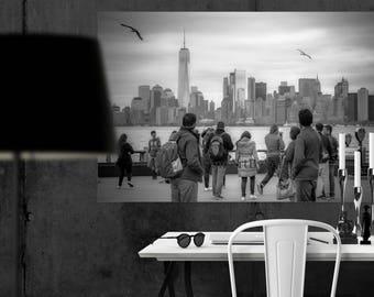 New York skyline canvas art, New York City, Manhattan wall decor, NYC photography, wall hangings