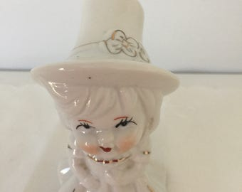 Vintage ceramic little beautiful girl figure from 1980's