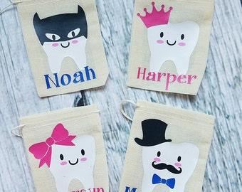 Tooth Fairy Bag, Tooth Fairy Tooth Holder, Tooth Fairy Pillow,  Tooth Bag, Personalized Tooth Fairy Gift, Custom Tooth Fairy Bag