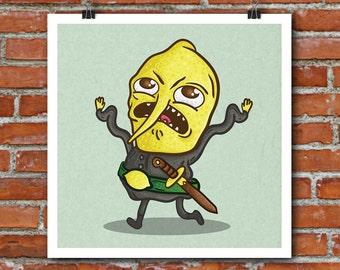 Adventure Time Lemongrab art print