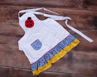 Lady Bugs and Daisies Apron