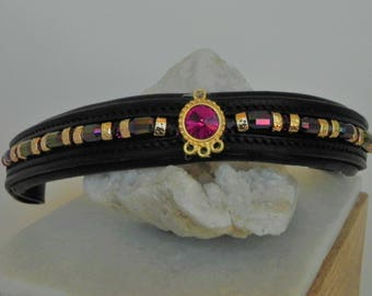 Pink swarvoski dressage browband