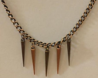 Men's Metal Cone Necklace