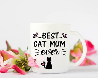 Cat themed Mug, perfect mug for Mum or if you are a cat mum.Special gift for the cat lover in the family.