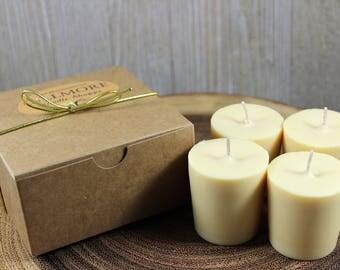 Buttercream Soy Votive Candles (Set of 4)