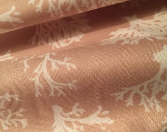 Beach Fabric - Coral 86403 211 Ocean Nautical Sand & Sea by Lisa Audit for Wilmington Prints 100% Quality Cotton by 1/2 Yard or Yardage