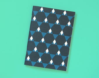 A6 Notebook blank Geometric mountains