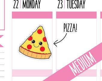 Pizza Planner Stickers, Pizza Night, Pizza Lover, Takeaway, Food Stickers, Cheat Night, Happy Planner Stickers, Erin Condren Stickers