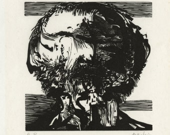 "LEONARD BASKIN (American, 1922-2000), ""Pictor Ignotus"", 1969, wood engraving, pencil signed."