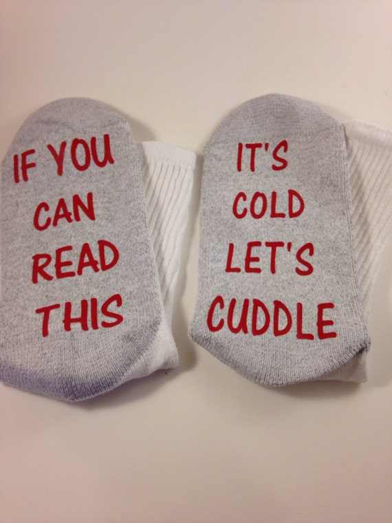 Socks crews if you can read this ... It's cold let's cuddle