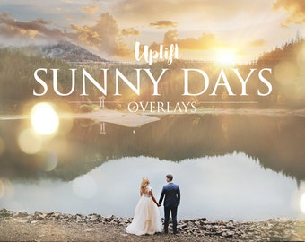 SALE! 80% OFF Sunny Days Sun Flare & Sunburst Overlays for Photoshop (with 1 click Overlay Applicator Photoshop Action included!)