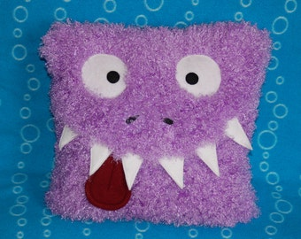 Soft Snuggly Purple Monster Pillow