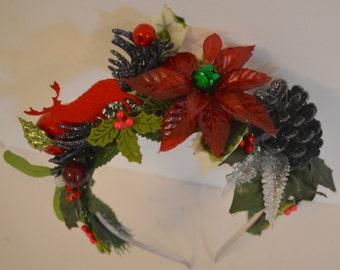 Indulge Yourself In Joy, Christmas Headband - One Off Headband
