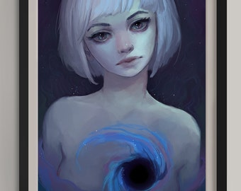 "Black Hole -  Original Art Print (A3/11.7""x16.5"")"