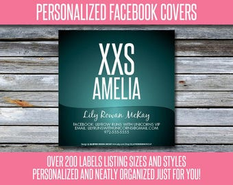 Facebook Album Covers - Size and Style - Personalized! 200+ Graphics - LLRFBL03
