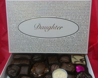 Chocolates with Daughter Box Lid or pick the title of your lid from over forty lids to choose from! Gourmet Boxed Chocolates.