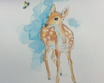 The Fawn and the butterfly