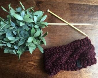 Chunky Wool Knit Headband - Wool Knit Ear Warmer