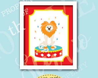 Carnival Circus Lion 8x10 Instant Download Print Your Own Wall Art