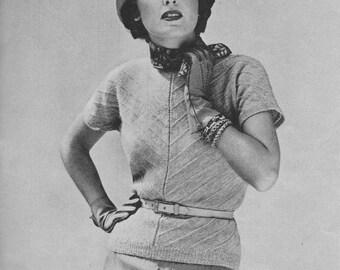 1950s Bias-Knit Sweater