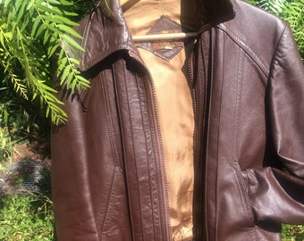 Vintage ladies leather jacket