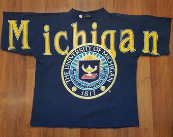 Vintage Michigan Wolverines Shirt,  Michigan University Shirt