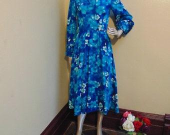Vintage Royal Blue Dress