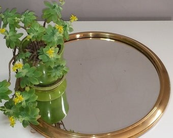 Mirror tray vintage Golden