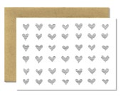 Hearts Poche Horizontal - A1 Card (Single or Set of 5)