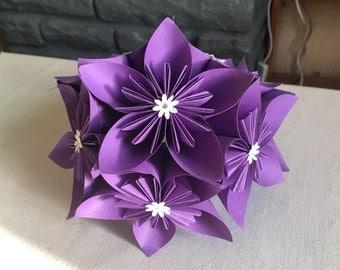 Bridal bouqet - handmade kusudama origami flowers