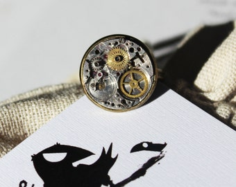 Steampunk Watch Face Ring