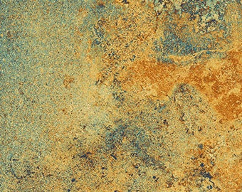 Rust blue marbled Extra wide quilt backing fabric, Stonehenge Graduation by Linda Ludovico, 108 inch wide, 100% cotton