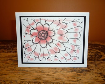 Pretty Pink Flower Greeting Card - All Occasion