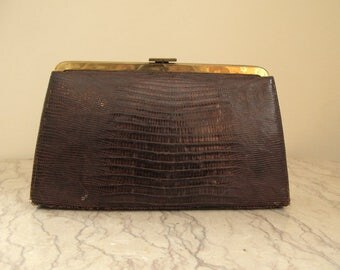 1950's vintage crocodile bag